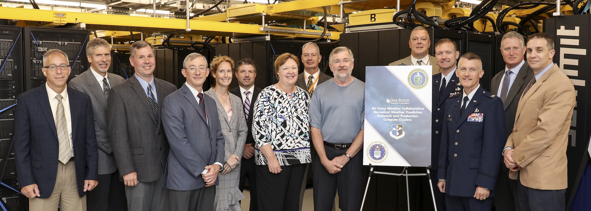 Representatives from the US Air Force met with DOE and ORNL computing and global security team members on July 10 to kick off the collaboration.