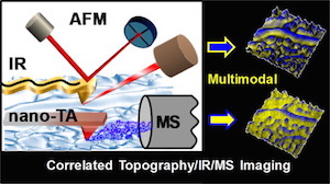 Correlated Tophography/IR/MS Imaging