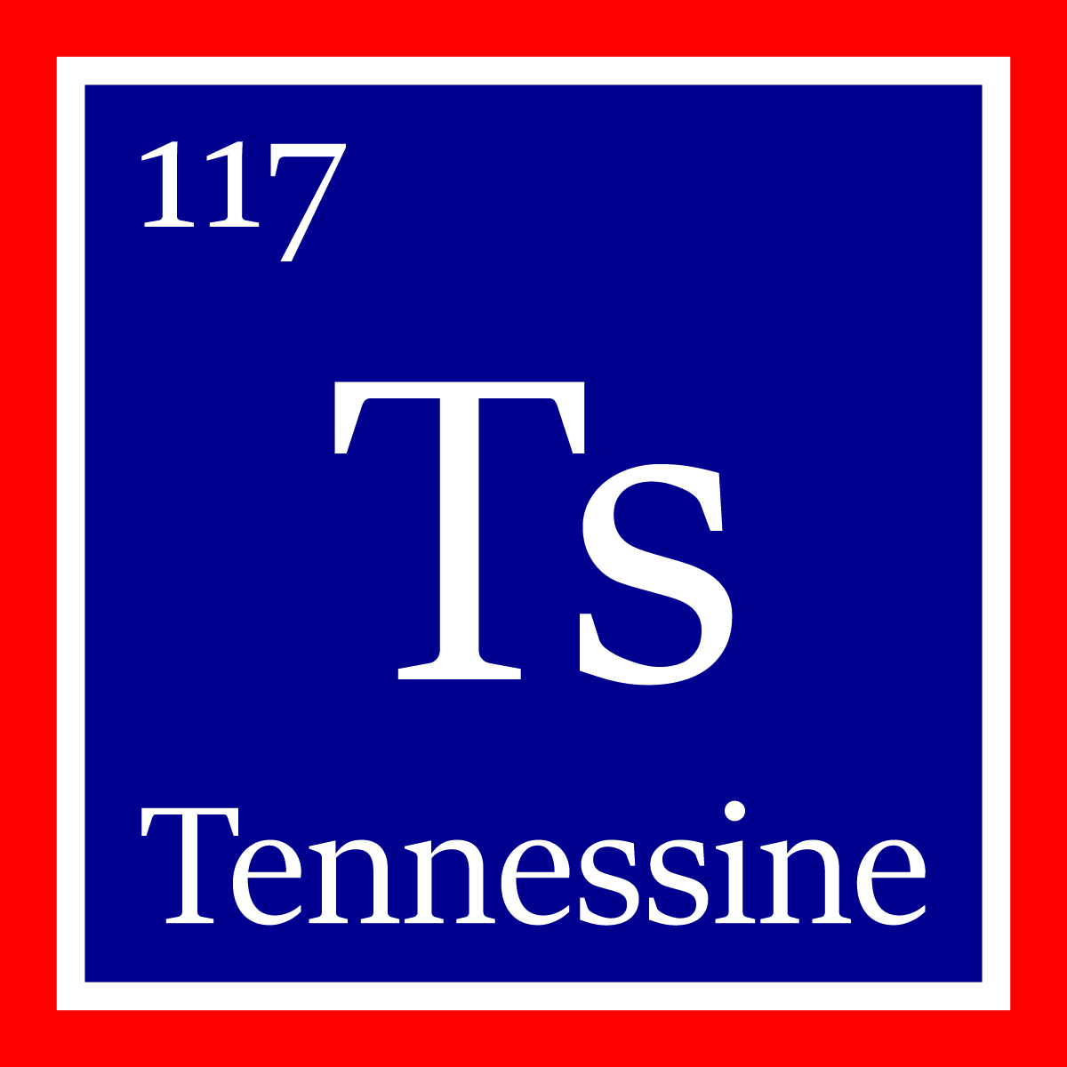 Tennessine acknowledges state institutions roles in elements the new element tennessine is denoted by the symbol ts on the periodic table urtaz