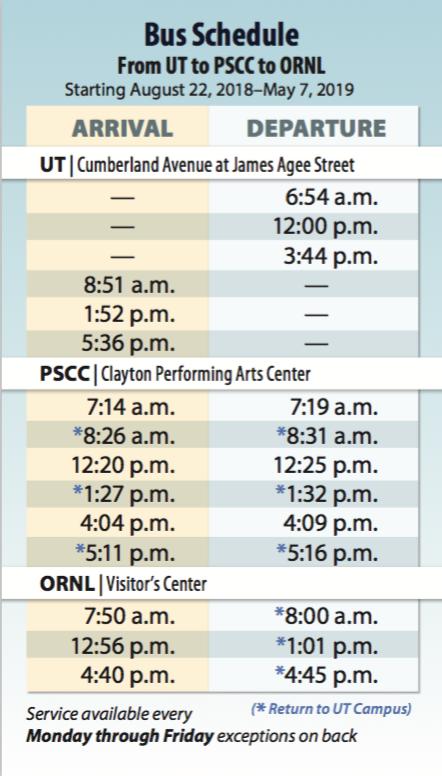 Bus Pocket Schedule