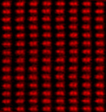 Looking straight down on a silicon crystal, this  direct, subangstrom-resolution image shows dumbbell-shaped rows of  atoms with a spacing  of 0.78 angstrom between each pair. Analysis of  the power spectrum  shows the presence of information down to a  record 0.6 angstrom. The  image was obtained with Oak Ridge National  Laboratory's aberration- corrected 300-kilovolt Z-contrast scanning  transmission electron  microscope.