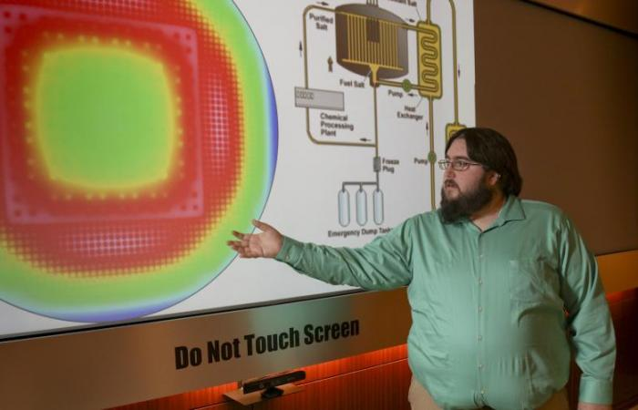 Research aims to develop molten salt reactor core simulator