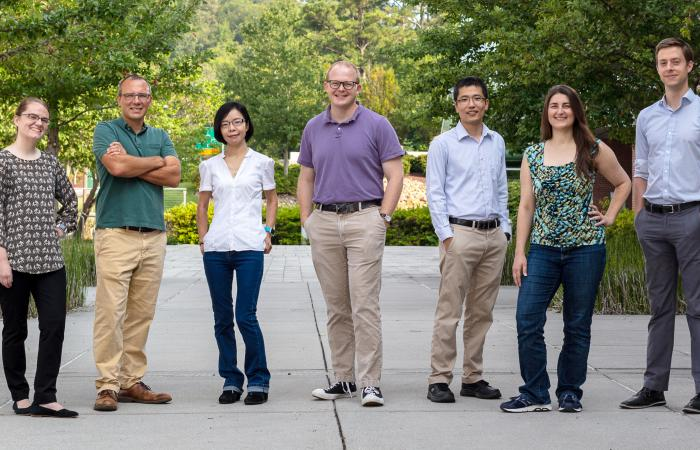 Seven ORNL researchers have received Early Career Research Program awards from the Department of Energy's Office of Science. Credit: Carlos Jones/Oak Ridge National Laboratory, U.S. Dept. of Energy