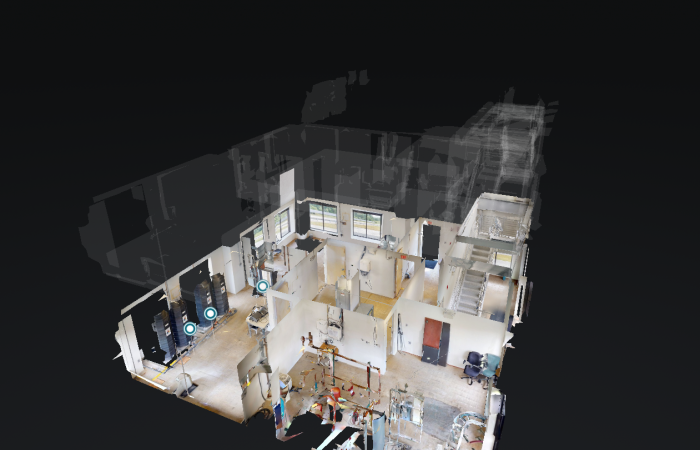 New virtual tours of ORNL facilities include the Building Technologies Research and Integration Center, shown in dollhouse view. Credit: ORNL, U.S. Dept. of Energy