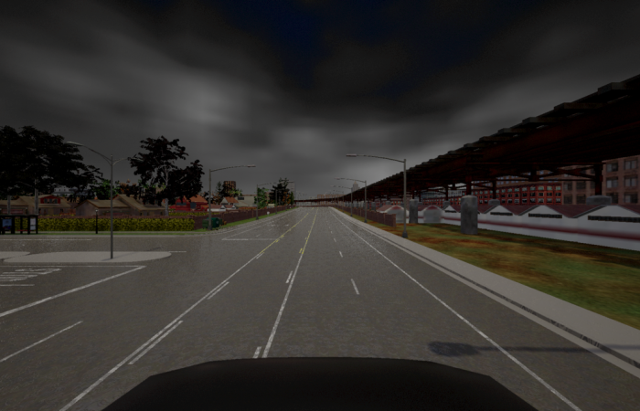 Oak Ridge National Laboratory's MENNDL AI software system can design thousands of neural networks in a matter of hours. One example uses a driving simulator to evaluate a network's ability to perceive objects under various lighting conditions. Credit: ORNL, U.S. Dept. of Energy