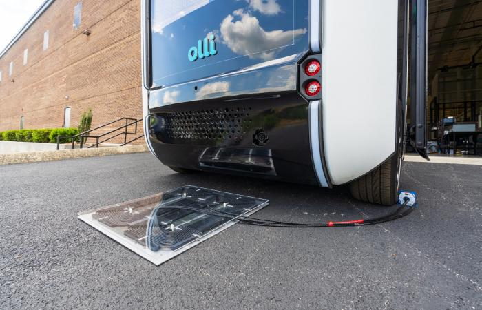 ORNL researchers installed and demonstrated their wireless charging technology for the first time on an autonomous vehicle – the Local Motors Olli shuttle bus. Credit: Carlos Jones/ORNL, U.S. Dept. of Energy