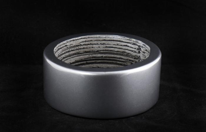 3D printed permanent magnets with increased density were made from an improved mixture of materials, which could lead to longer lasting, better performing magnets for electric motors, sensors and vehicle applications. Credit: Jason Richards/Oak Ridge Nati