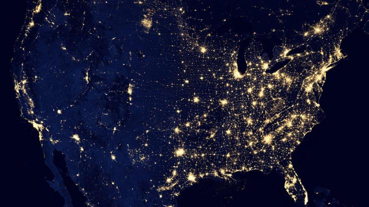 US Electrical Grid Map