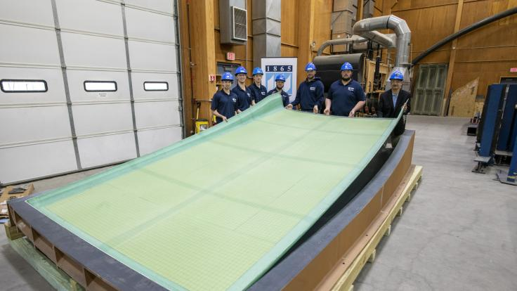 Large-scale 3D printed boat mold from bioderived materials