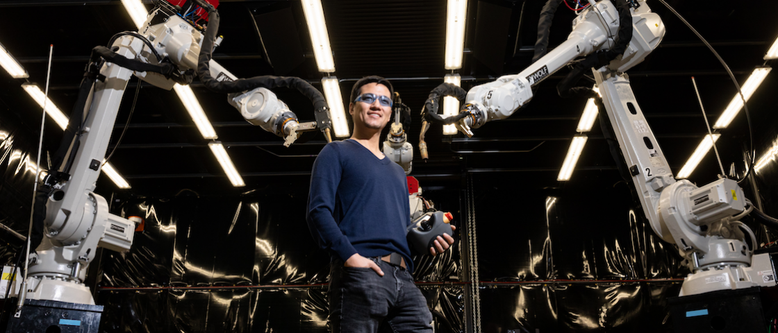 Peter Wang is focused on robotics and automation at the Department of Energy's Manufacturing Demonstration Facility at ORNL, working on high-profile projects such as the MedUSA, a large-scale hybrid additive manufacturing machine.