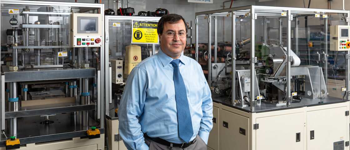 Ilias Belharouak is leading ORNL's research efforts in investigating new materials for solid-state batteries, which can double the charging capacity of lithium-ion batteries, commonly used today for electronic devices such as cell phones.