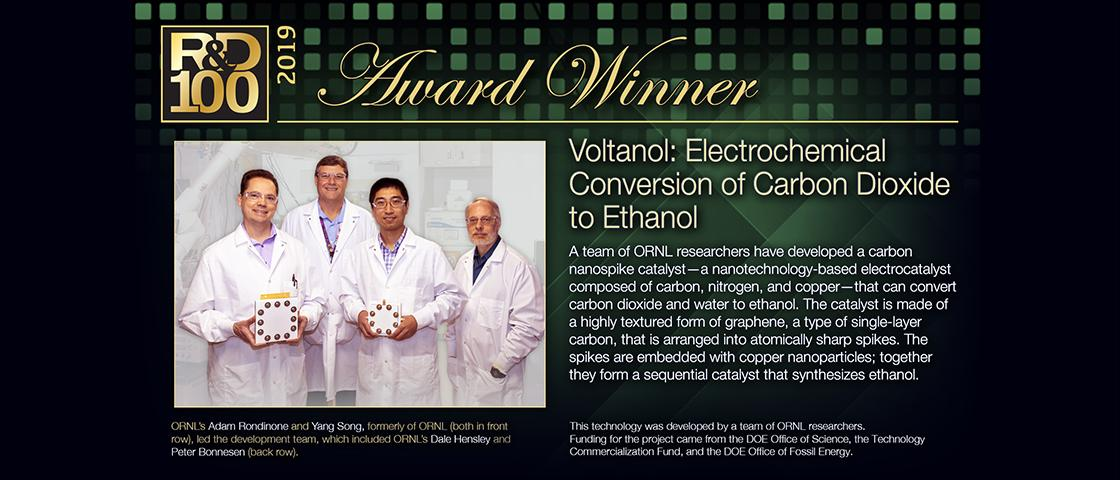 2019 R&D 100 Winner - Voltanol: Electrochemical Conversion of Carbon Dioxide to Ethanol