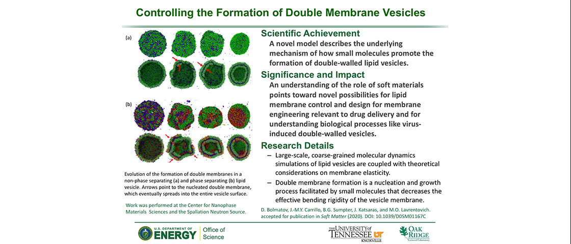 Controlling the Formation of Double Membrane Vesicles