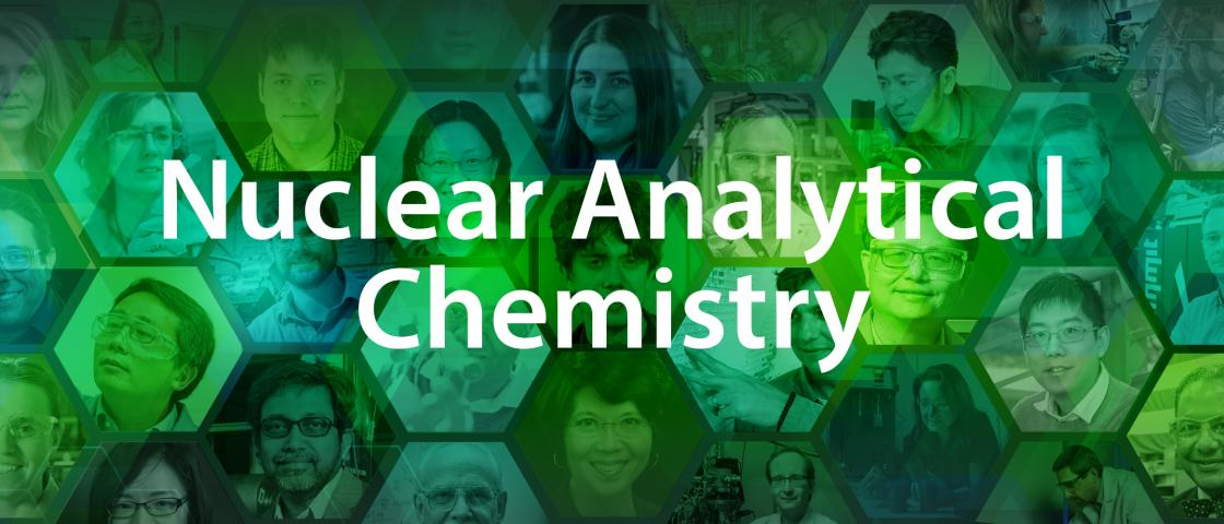 Nuclear Analytical Chemistry text over background graphic.