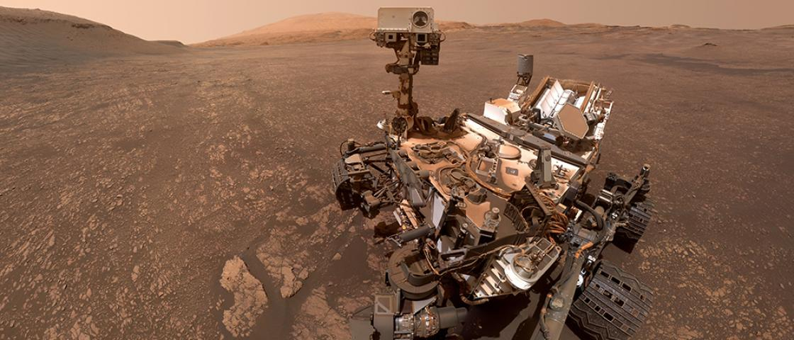 A selfie from the Curiosity rover as it explores the surface of Mars. Like many spacecraft, Curiosity uses a radioisotope power system to help fuel its mission. Credit: NASA/JPL-Caltech/MSSS