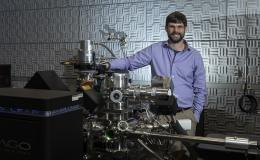 Jon Poplawsky of Oak Ridge National Laboratory combines atom probe tomography (revealed by this LEAP 4000XHR instrument) with electron microscopy to characterize the compositions, structures, and functions of materials for energy and information technolog
