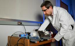 Raphaël Hermann of Oak Ridge National Laboratory studies magnetic materials and batteries using Mössbauer spectroscopy.