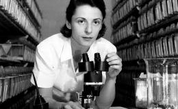 Liane B. Russell at the outset of her scientific career. She came to Oak Ridge in 1947.