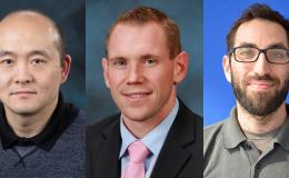 From left, Peter Jiang, Elijah Martin and Benjamin Sulman have been selected for Early Career Research Program awards from the Department of Energy's Office of Science. Credit: Oak Ridge National Laboratory, U.S. Dept. of Energy