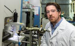 Paul Abraham uses mass spectrometry to study proteins.