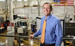 Tony Schmitz, UT/ORNL joint faculty researcher in machine tooling, has been elected to the College of Fellows of the American Society for Precision Engineering. Credit: Carlos Jones, Oak Ridge National Laboratory/U.S. Dept. of Energy