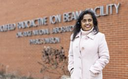 Nesaraja split her effort between nuclear data evaluation and experimentation at ORNL's now-closed Holifield Radioactive Ion Beam Facility. Credit: Carlos Jones/ORNL, U.S. Dept. of Energy