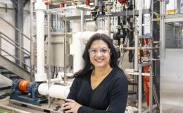 Nuclear engineer Nesrin Ozgan Cetiner led ORNL's collaboration with AMS Corp. to test instrument and control sensors for the next generation of nuclear power reactor technology. Credit: Carlos Jones/ORNL, U.S. Dept. of Energy