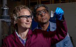 Rose Ruther and Jagjit Nanda have been collaborating to develop a membrane for a low-cost redox flow battery for grid-scale energy storage.