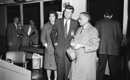 The Kennedys arrive at the Oak Ridge Research Reactor with ORNL Director Alvin Weinberg in 1959.