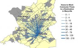 ORNL scientists used commuting behavior data from East Tennessee to demonstrate how machine learning models can easily accept new data, quickly re-train themselves and update predictions about commuting patterns. Credit: April Morton/Oak Ridge National La