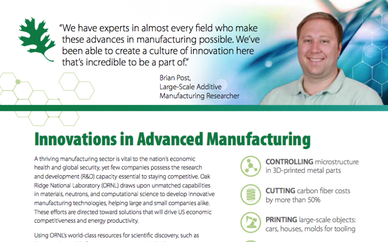 Advanced Manufacturing Fact Sheet