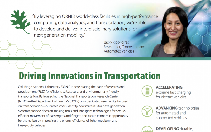 Transportation Fact Sheet Cover