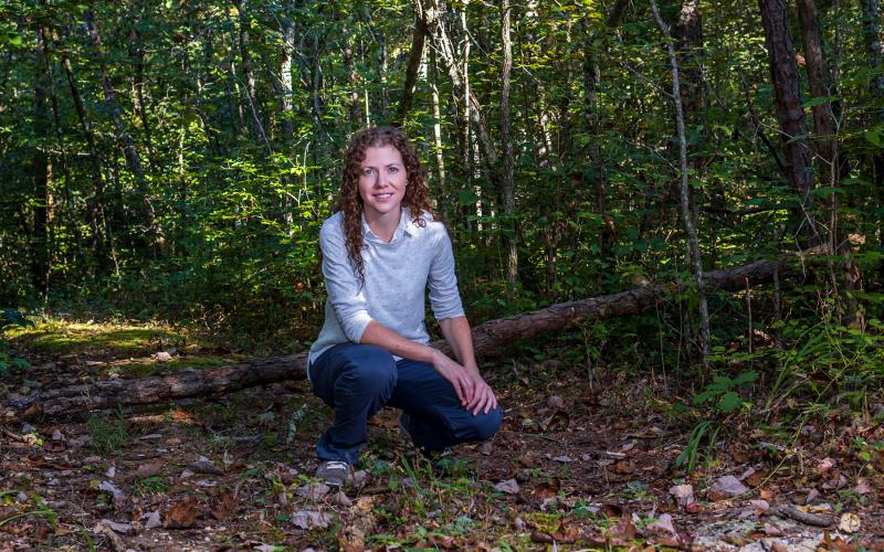 Elizabeth Herndon studies how changes in soil chemistry affect ecosystem processes.