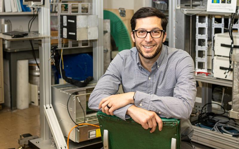 Jason Nattress, an Alvin M. Weinberg Fellow, is developing new nuclear material inspection and identification techniques to improve scanning times for ocean-going cargo containers.