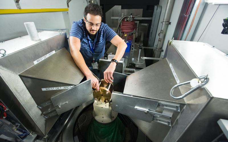 Adam Makhluf from the University of California, Los Angeles is using neutrons at Oak Ridge National Laboratory's Spallation Neutron Source to study the fundamental role carbon dioxide plays in Earth's carbon cycle.