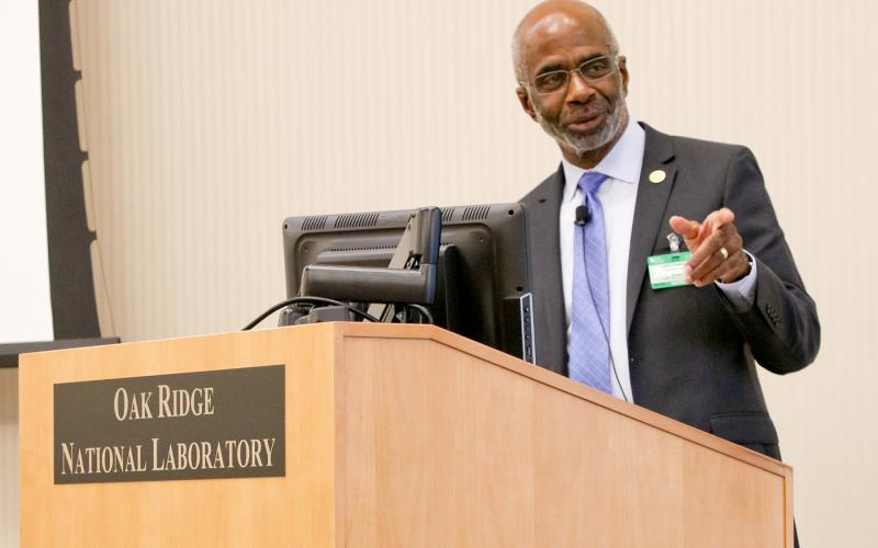 Larry Robinson, interim president of Florida A&M University, was the keynote speaker at ORNL's Black History Month celebration.