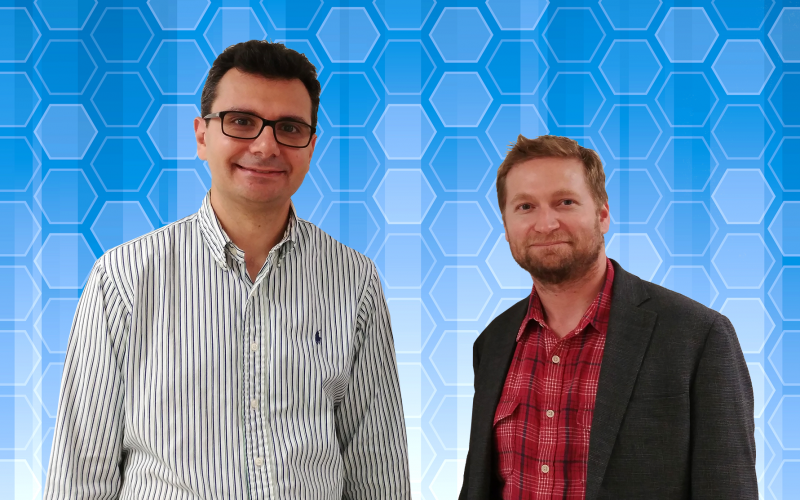 ORNL's Pavel Lougovski (left) and Raphael Pooser will lead research teams working to advance quantum computing for scientific applications.