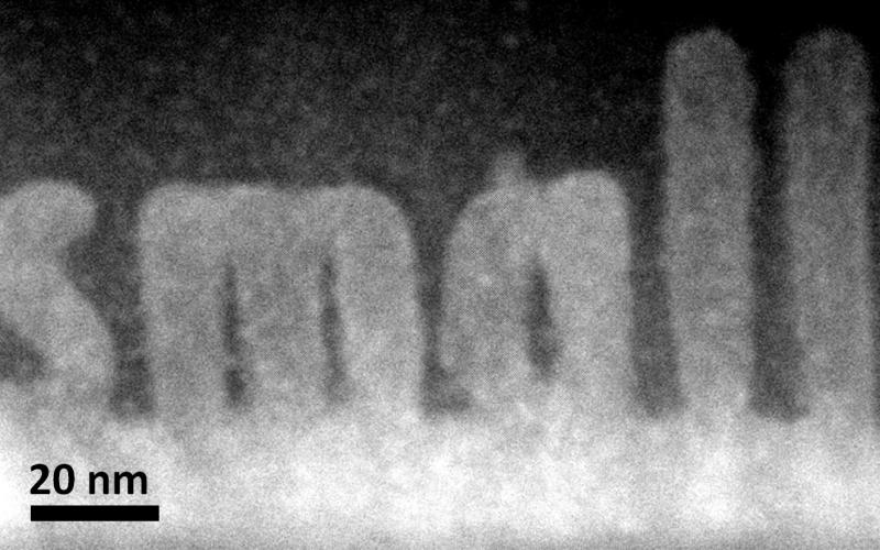 ORNL researchers used a new scanning transmission electron microscopy technique to sculpt 3-D nanoscale features in a complex oxide material.