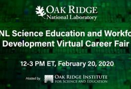 Looking for an opportunity to participate in a #STEM internship or research program at ORNL? Register for the virtual career fair happening on Feb. 20.